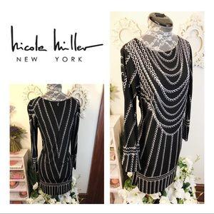 Nicole Miller Studio Chain Print Stretch Dress